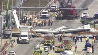 Terrible: Puente se colapsa en Florida Aplastando Varios coches y personas