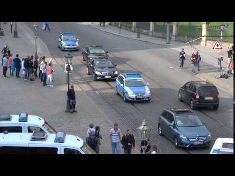 03790 - Arrivals with polizei  - Bilderberg meeting - 06/09 2016 - Germany