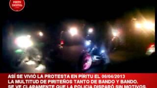HABITANTES DE PÍRITU  PORTUGUESA PROTESTAN POR APAGONES