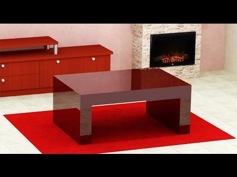 como hacer una mesa de centro con tablero grueso  YouTube