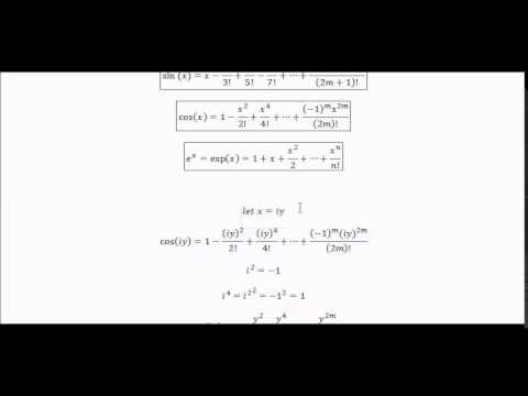 Euler identity (most beautiful equation?) proof! - YouTube