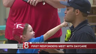 Kids hit by car meet New Haven firefighters who saved them