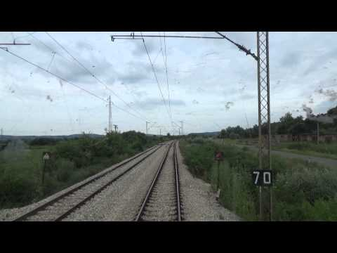 Train Driver's view: railroad in Serbia from Lapovo to Bagrdan 1/2 - SERBIAN RAILWAYS