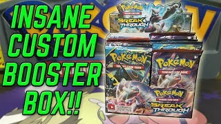 INCREDIBLE Pokemon Custom Booster Box Opening!