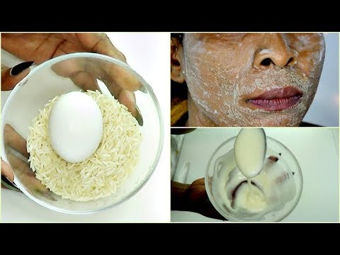 RICE AND EGG FOR INSTANT FACE LIFT, GET RID OF WRINKLES SAGGING SKIN, ANTI - AGING  Khichi Be