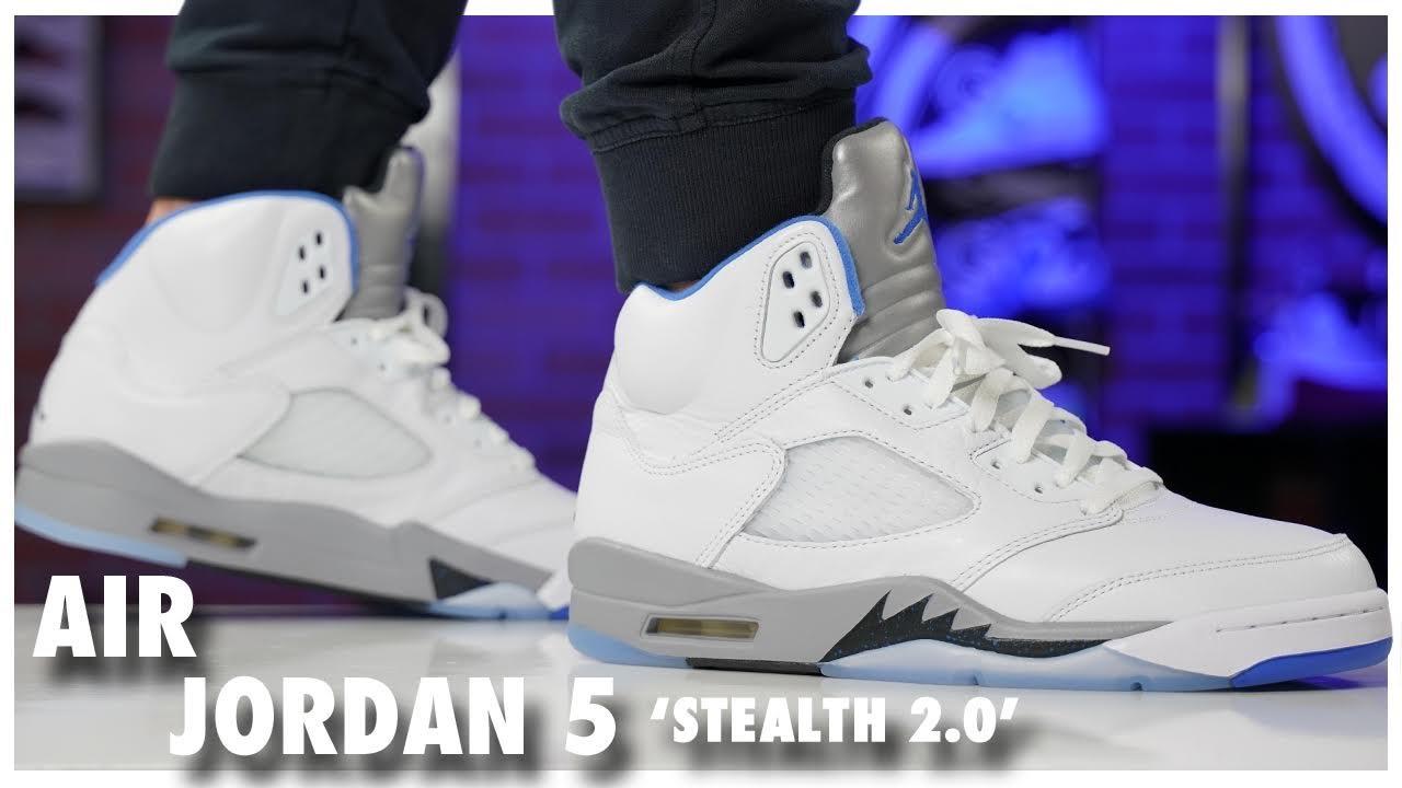 AIR JORDAN 5 RETRO GS 'STEALTH 2.0'