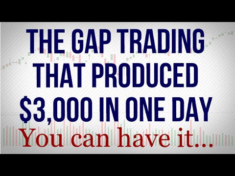 Get The Gap Trading Formula For Winning Trades - $3,000 in one day