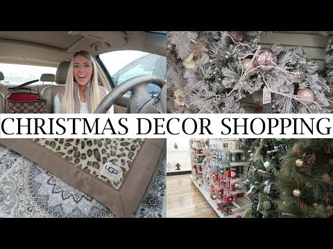 Christmas Decor Shopping At Home Goods + Haul | Rainy Day Shop With Me 2017 | Erica Lee