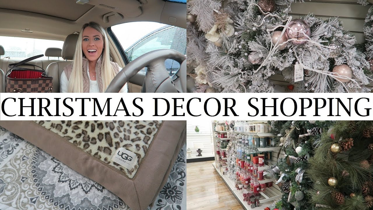 Rainy Day Shop With Me 2017 Christmas Decor Shopping At