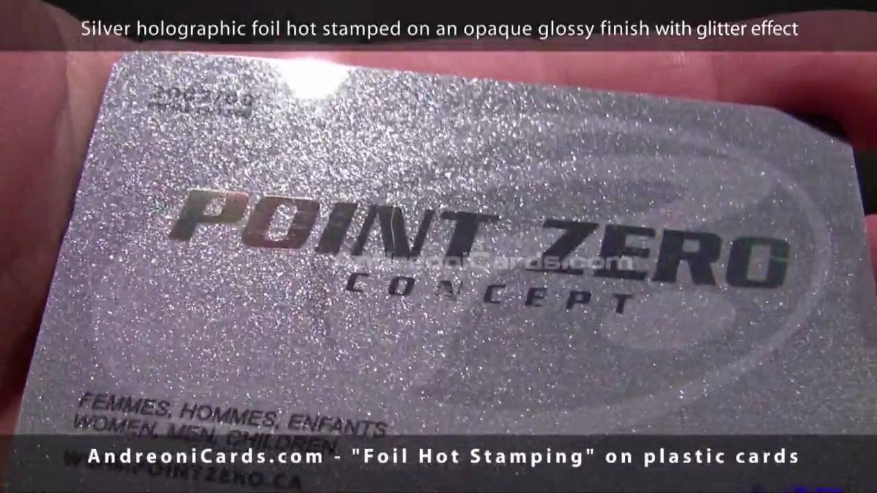 Foil hot stamping on plastic cards and business cards youtube reheart Image collections