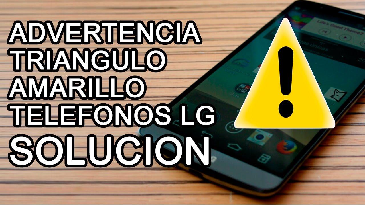 Lg G2 G3 G4 No Carga Triangulo Amarillo Advertencia