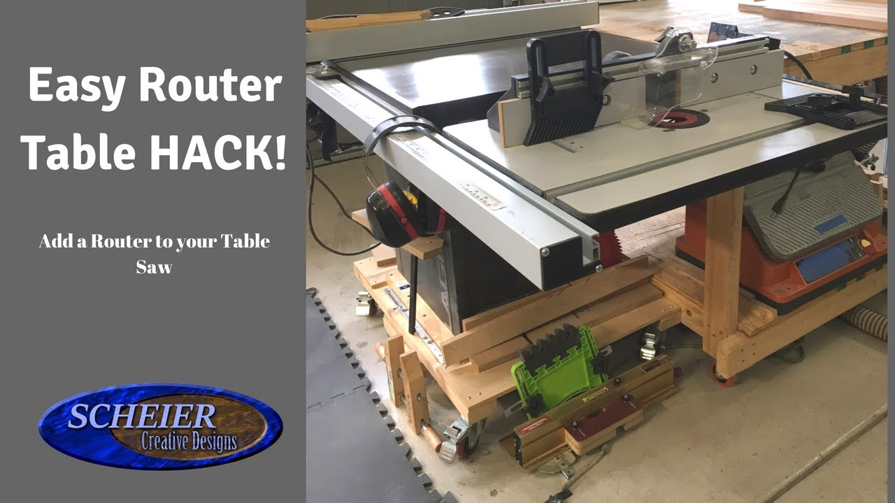 Router table hack table saw extension youtube router table hack table saw extension greentooth Image collections