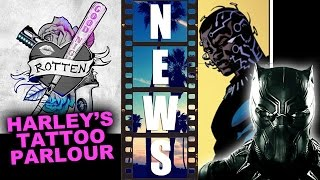 Suicide Squad SXSW Tattoo Posters, Black Panther New Mask - Beyond The Trailer