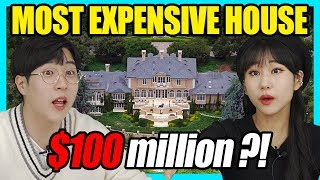 ANOTHER LEVEL  😳 Korean React To Most Expensive American celebrities House!