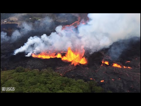 Overflight video of Fissure 20 complex on May 21, 2018 (USGS HVO)