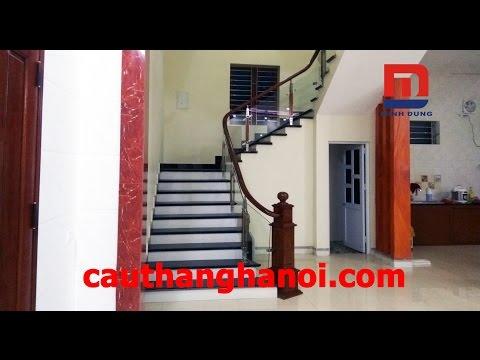 Cầu thang kính - Cầu thang kính thi công và lắp đặt tại Bắc Giang