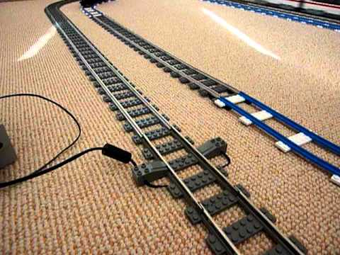LEGO 9V Train on ME Metal Rails