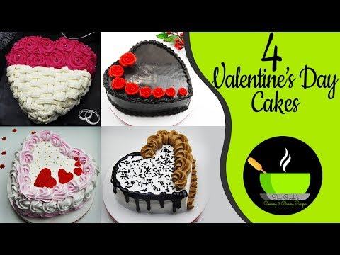 4 Valentine's Day Cake Recipes | Valentine's Baking Recipes | Heart Shaped Cake Recipes | Eggless