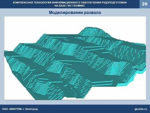 Комплексная технология информационного обеспечения рудоподготовки на базе ГИС ГЕОМИКС
