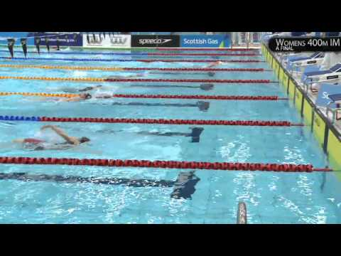 HANNAH MILEY TAKES GOLD! WOMENS 400M IM - SCOTTISH GAS SHORT COURSE CHAMPIONSHIPS