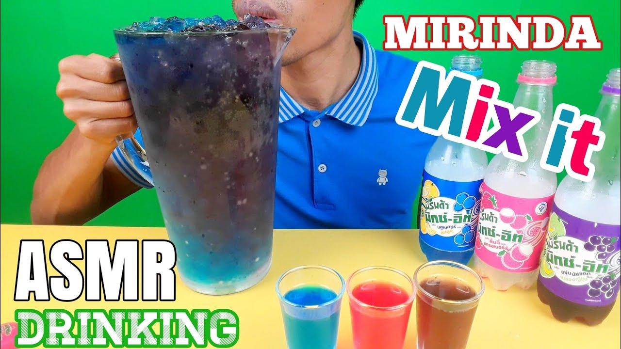 ASMR Drinking Soda Mirinda Mix it Big Glass   Challenge   EP.25 I BoonTube