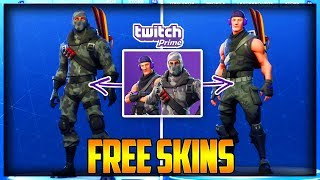 Comment obtenir le TWITCH PRIME SKINS FOR FREE Fortnite Battle Royale - How to GET TWITCH SKINS - REDEEM