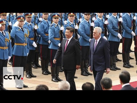 Official welcoming ceremony for President Xi in Belgrade