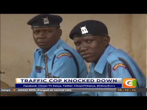 Traffic police officer killed by a a speeding bus on Nairobi Mombasa highway