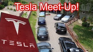 15 Teslas at Our House?!?! Tesla PARTY!
