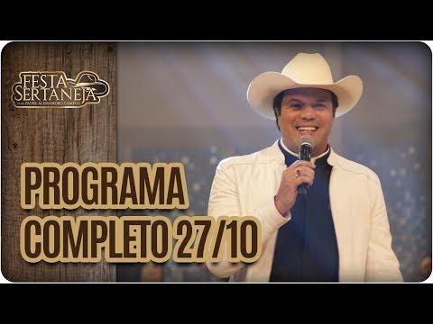 Programa Completo: Marlon e Maicon - Festa Sertaneja com Padre Alessandro Campos (27/10/17)