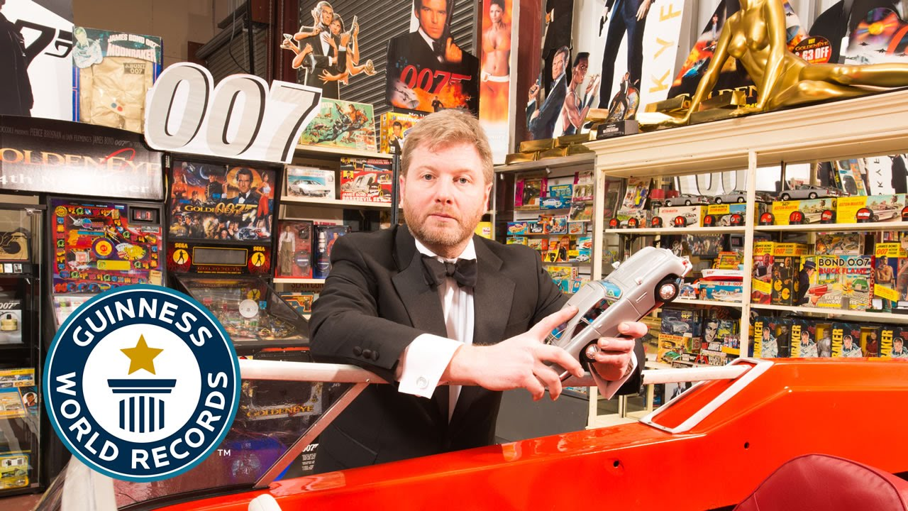 largest collection of james bond memorabilia guinness world records 2015 youtube