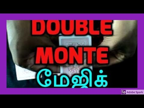 MAGIC TRICKS VIDEOS IN TAMIL #188 I Double MONTE @Magic Vijay