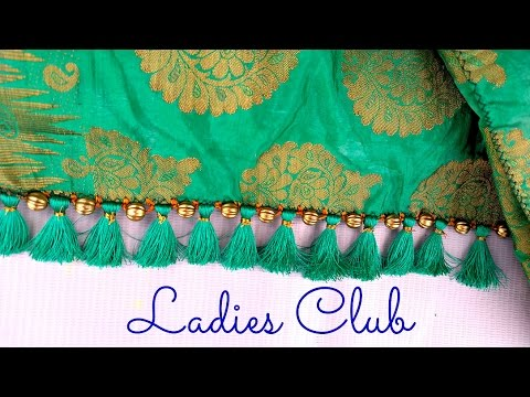 Download How to make Krosha / Crochet Saree Tassels with Beads I Saree kuchu tutorial