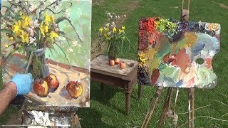 Kyle Buckland Plein Air Still life Oil Painting Demonstration Beginner Art Lesson #6
