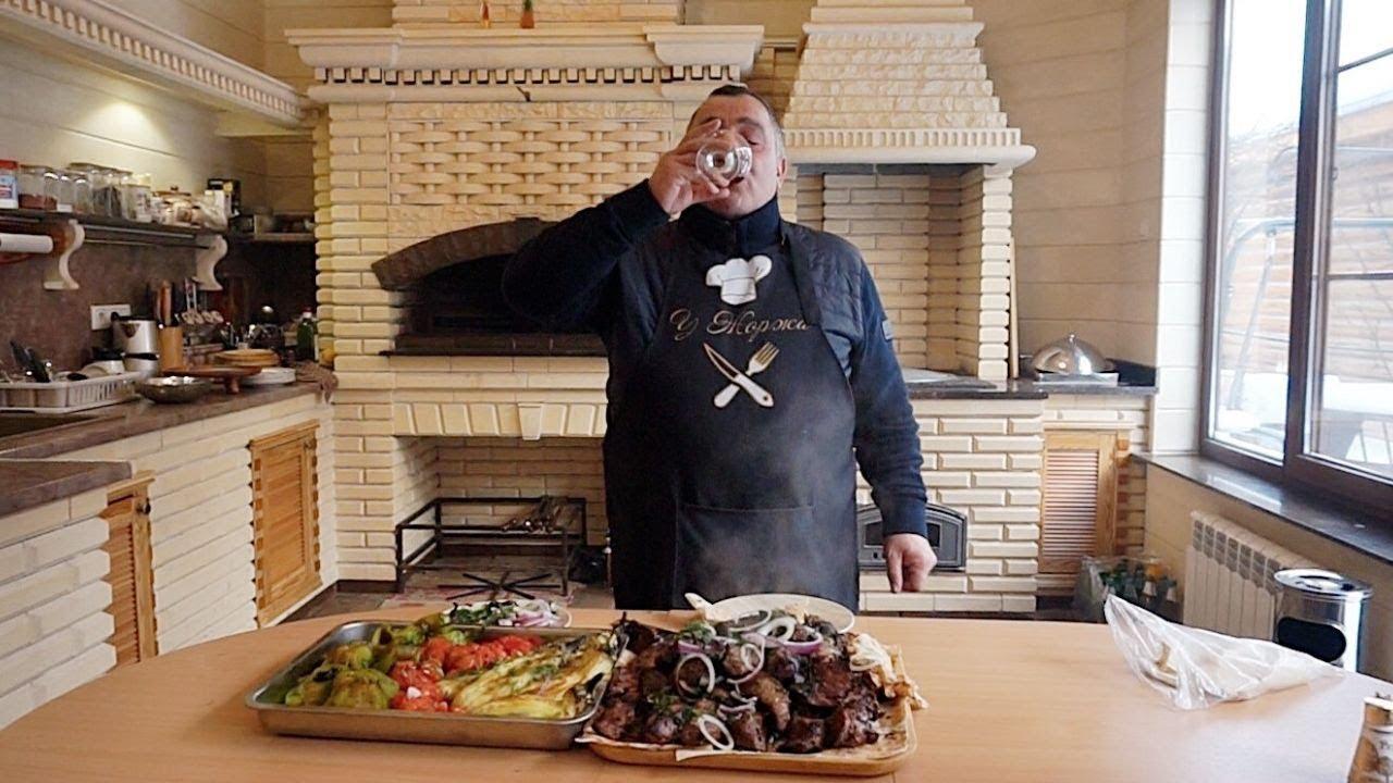Прогулка по Москве. Приготовление шашлыка из телячьей вырезки с родными. Рецепт от Жоржа