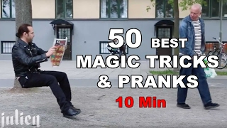 Top 50 Best Magic Tricks & Pranks in 10 minutes -Julien Magic