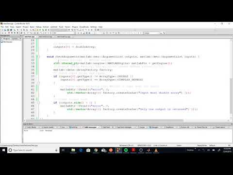 How to Create C++ mex files for MATLAB - YouTube