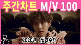 [주간차트 2020년 2주차] 금주의 KPOP 아이돌 뮤직비디오 순위 100 - 2020년 1월 12일 | …