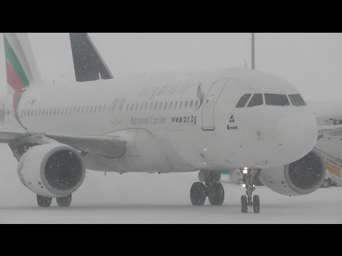 Snowy Plane Spotting at Sofia Airport, SOF *Ground Movements Only*