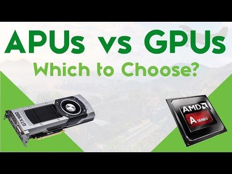 APUs vs GPUs