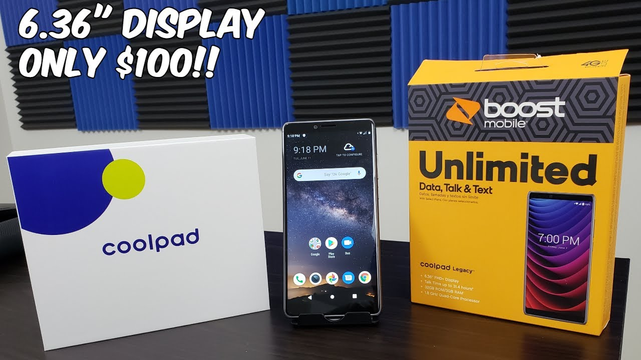 CoolPad Legacy Unboxing and First Boot Up// Boost Mobile Only $100!!