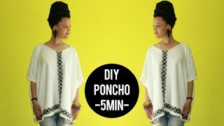 🇲🇦  How-To DIY Poncho in 5min 🇲🇦  #Morocco Inspired | Culture Couture | #TousLesMêmes