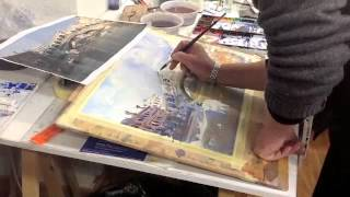 The Rialto Bridge, Venice. Step by Step watercolour.