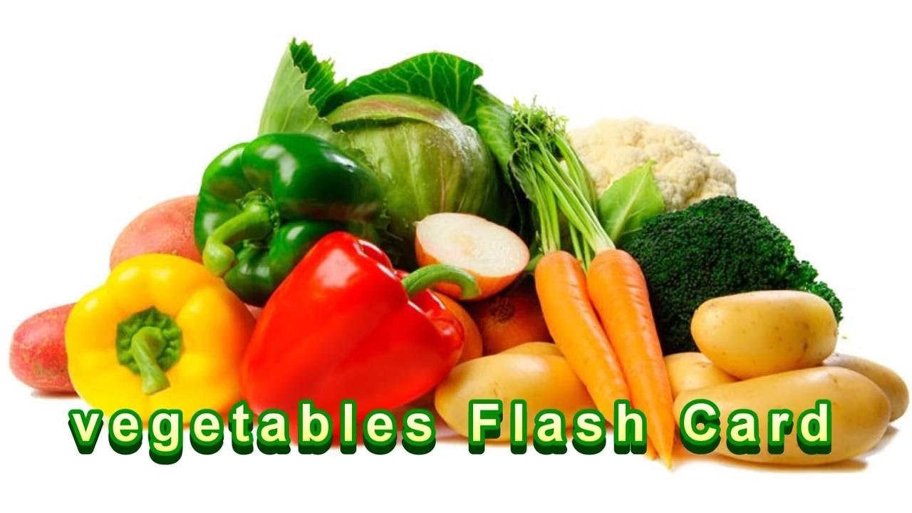 Learn Vegetables Flashcards For Kids - YouTube