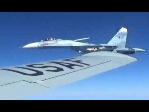 US AIRCRAFT IN DANGER !!! After Russian Su-27 Aircraft come VERY CLOSE