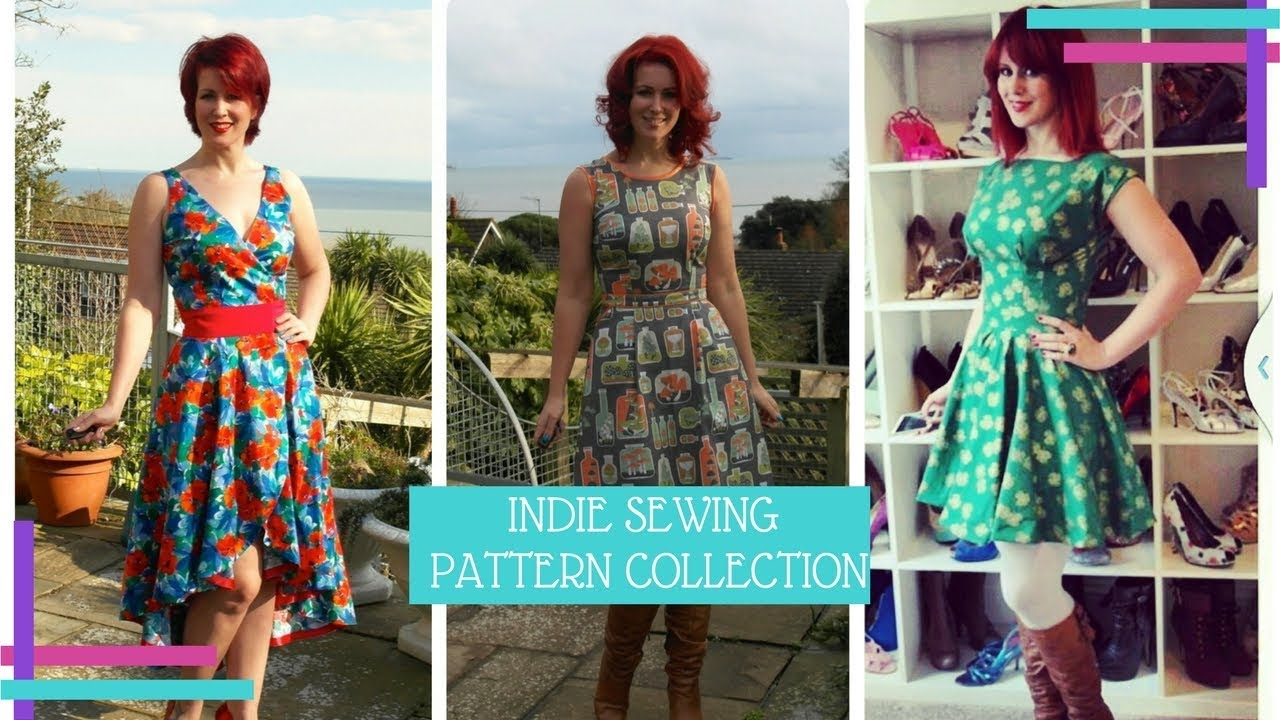 My Indie Sewing Pattern Collection 2017 :: Vlog 29 - YouTube