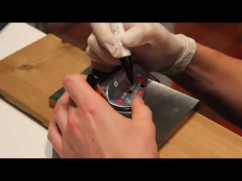 How to Stamp Longer Words and Phrases onto Golf Clubs - Wedge Stamping and Paint Fill Golf Clubs