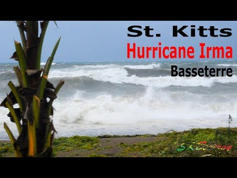 Hurricane Irma Cat 5 !!! rough seas after the eye passed just north of St. Kitts !!!