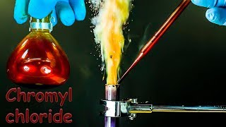 CrO2Cl2: Chromyl chloride. Hypergolic reactions