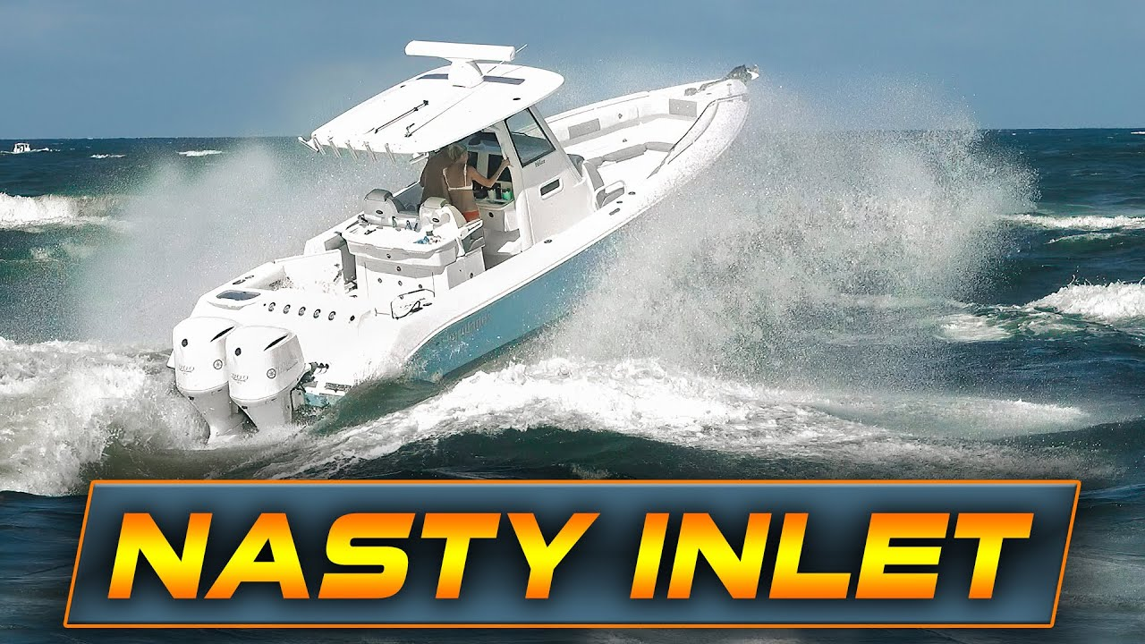 BOATS FIGHT NASTY WAVES AT BOCA INLET! | Boats vs Haulover Inlet